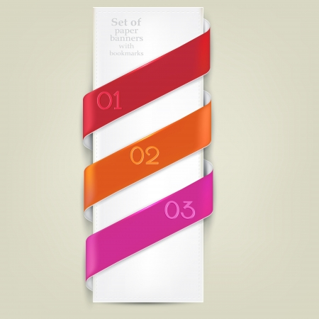 Colorful bookmarks for text  Vector background Vector