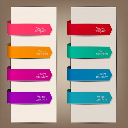 Colorful bookmarks and arrows for text Stock fotó - 19221409