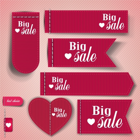 Set of bubbles, stickers, labels, tags  Big Sale   Vector template Vector