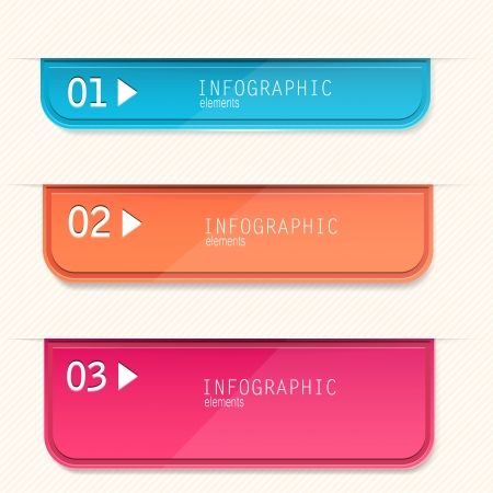 Set of bookmarks, stickers, labels, tags. Numbered banners.  template for infographics
