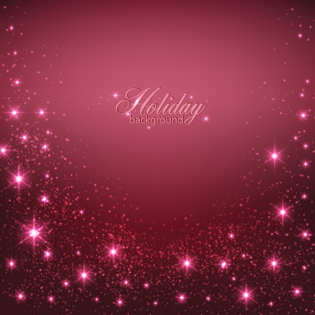sparkle background: Elegant Christmas Red background with snowflakes and place for text. Vector Illustration.