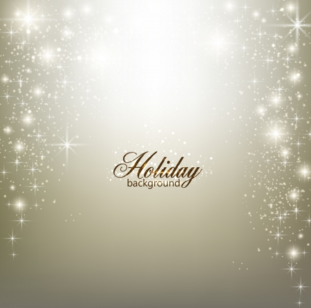 stars: Elegant Christmas background with snowflakes and place for text.