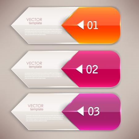 flecha direccion: Marcadores de colores para el texto y las flechas Vectores