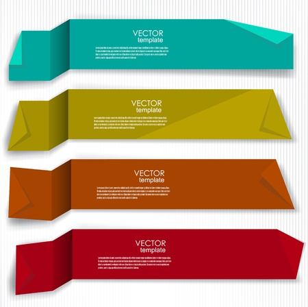 Set of bookmarks, stickers, labels, tags  Vector template for infographics Vector
