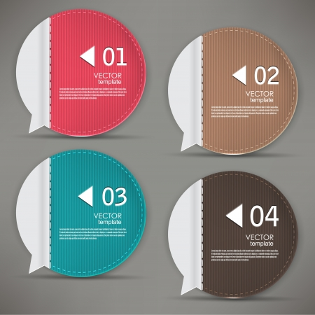 Set of bubbles, stickers, labels, tags. Numbered banners. Vector template for infographics Vector