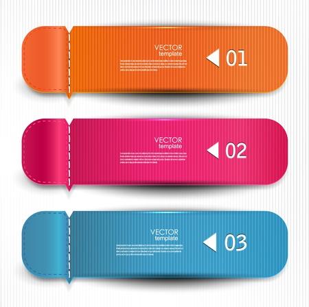 Set of bookmarks, stickers, labels, tags. Vector template for infographics Illusztráció