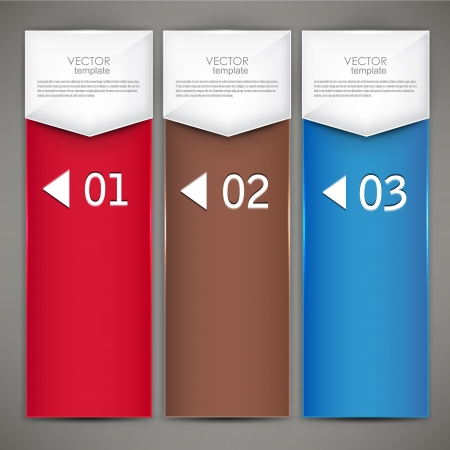 numbered: Modern colorful numbered banners illustration.