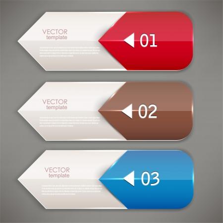 Colorful bookmarks and arrows for text Illusztráció