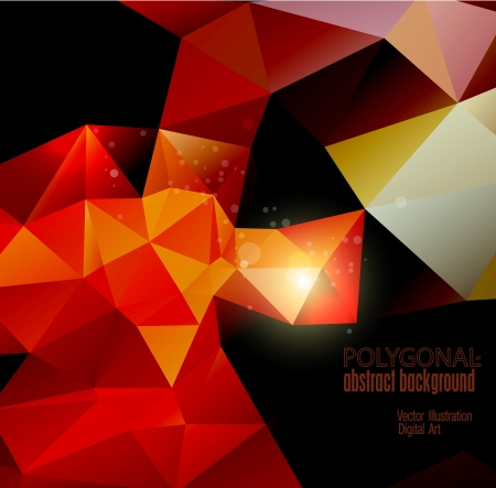polygonal: Abstract colorful polygonal background illustration