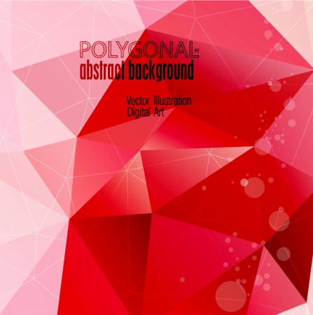 Abstract colorful polygonal background illustration Vector