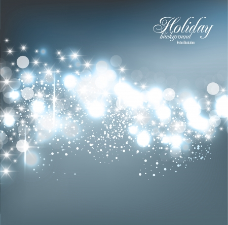 glitter: Elegant Christmas background with snowflakes and place for text. Vector Illustration.
