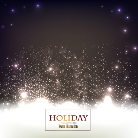 Elegant Christmas background with snowflakes and place for text. Vector Illustration. Stock Vector - 20822742