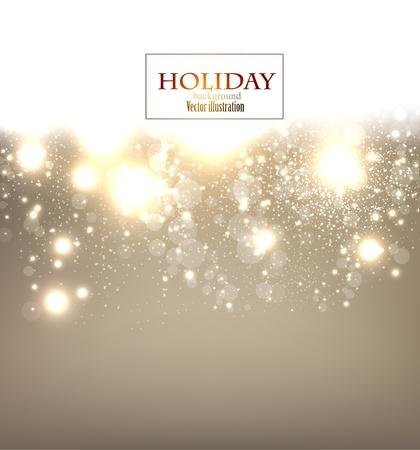 happy holidays: Elegant Kerst achtergrond met sneeuwvlokken en plaats voor tekst. Vector Illustratie.