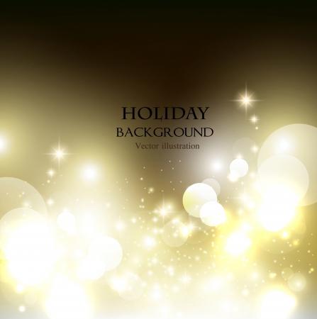 Elegant Kerst glanzende achtergrond met sneeuwvlokken en plaats voor tekst. Vector Illustratie. Stock Illustratie
