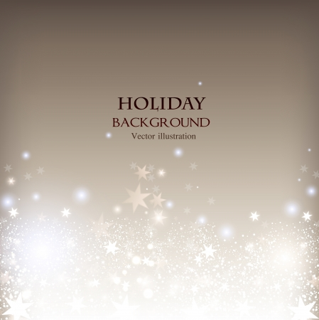 Elegant Christmas shining background with stars and place for text. Vector Illustration. Stock fotó - 20988446