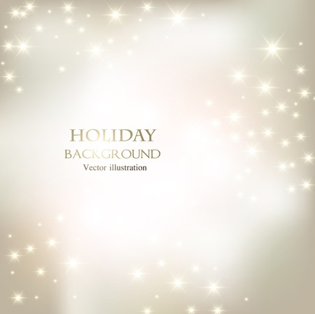 Elegant Christmas shining background with snowflakes and place for text. Vector Illustration. Stock Vector - 20988485