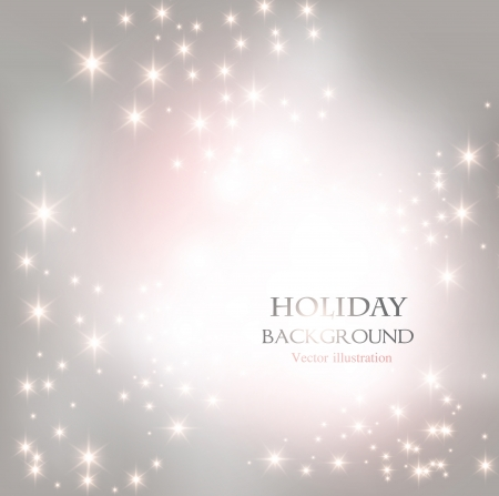 Elegant Christmas shining background with snowflakes and place for text. Vector Illustration.