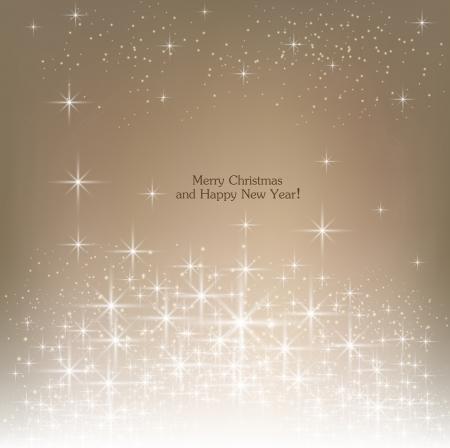 ベージュ色の美しいクリスマスの背景。