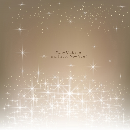 Beige beautiful Christmas background. Vector
