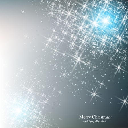 silver star: Elegant Christmas background with snowflakes and place for text. Vector Illustration.