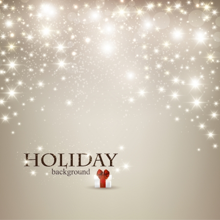 happy holiday: Elegant Christmas background with snowflakes and place for text. Vector Illustration.