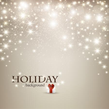holiday: Elegante fondo de Navidad con copos de nieve y el lugar de texto. Ilustraci?n vectorial.