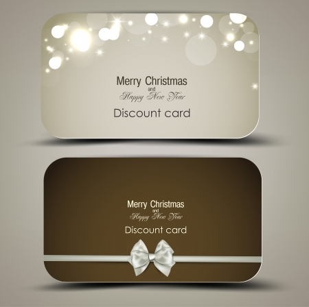 annotation: Collection of gift cards with ribbons. Vector background