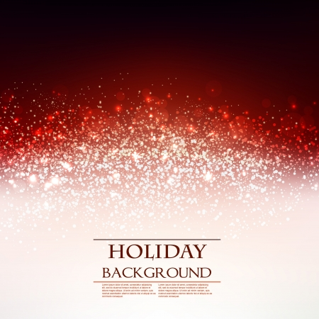 Elegant Christmas Red background with snowflakes and place for text. Vector Illustration. Vector