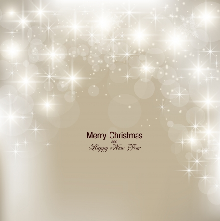 Elegant Christmas background with snowflakes and place for text. Vector Illustration. Stock fotó - 22070585