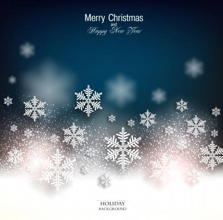 feriado: Elegante fondo de Navidad con copos de nieve y el lugar de texto. Ilustraci?n vectorial.