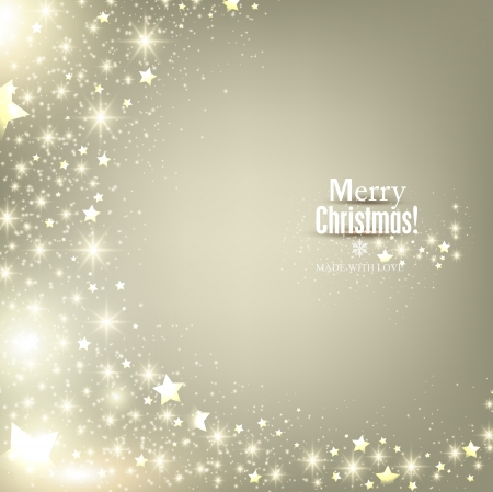 Elegant Christmas background with snowflakes and place for text. Vector Illustration. Stock Vector - 22604826