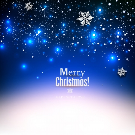 elegant christmas: Elegant Christmas background with snowflakes and place for text. Vector Illustration.