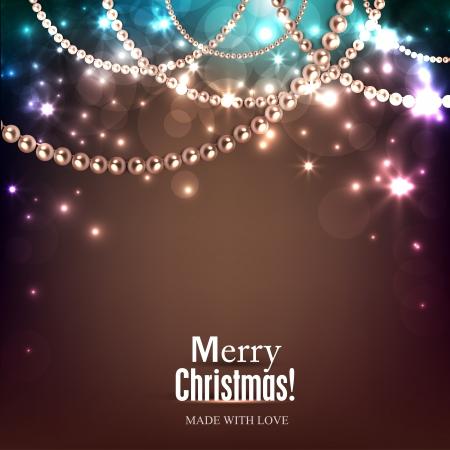 Elegante Weihnachten Hintergrund mit goldenen Kranz. Vektor-Illustration Illustration