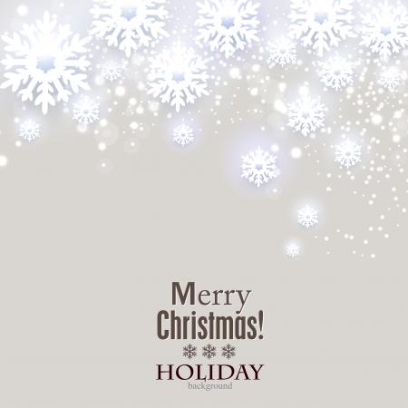 for text: Elegante sfondo di Natale con i fiocchi di neve e il luogo per il testo. Illustrazione Vettoriale.