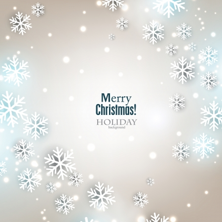 Elegant Christmas background with snowflakes and place for text. Vector Illustration. Stock fotó - 22604864