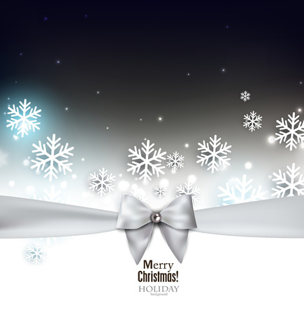 Holiday banner with ribbons. Vector background. Vector