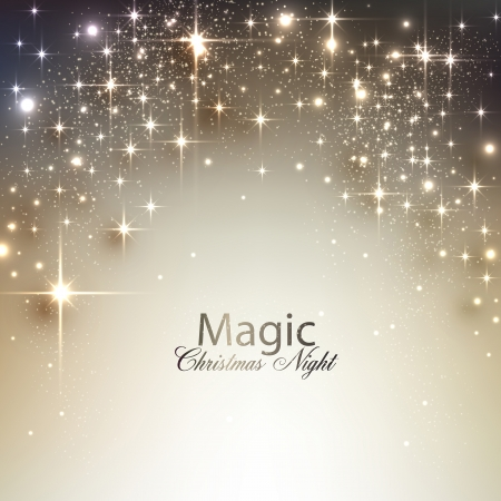エレガントなクリスマス背景テキストのための場所。ベクトル イラスト。