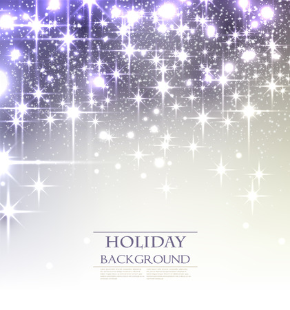 silver background: Elegant Christmas background with snowflakes and place for text. Vector Illustration.