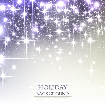 Elegant Kerst achtergrond met sneeuwvlokken en plaats voor tekst. Vector Illustratie.