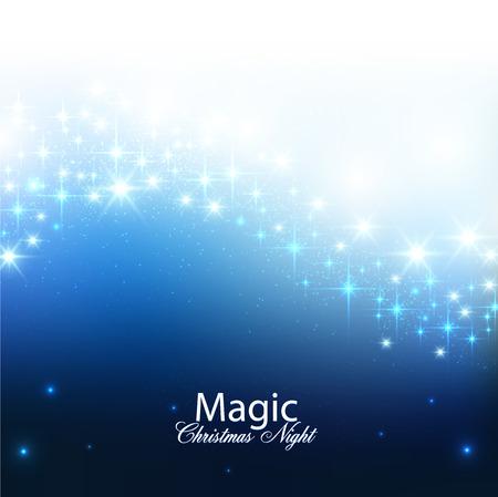 Elegant Kerst achtergrond met sneeuwvlokken en plaats voor tekst. Vector Illustratie. Stockfoto - 23196198
