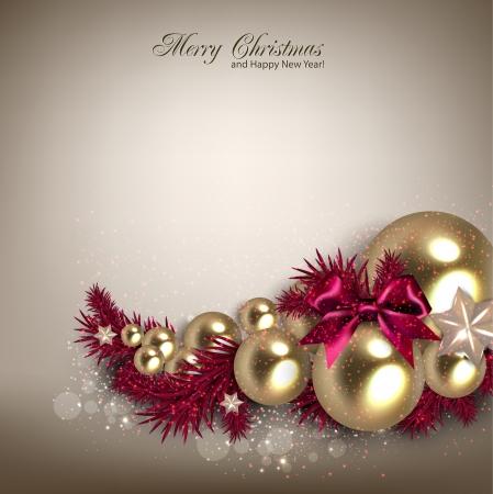 Elegante Hintergrund mit Weihnachten Girlande. Vektor-Illustration Standard-Bild - 23196197