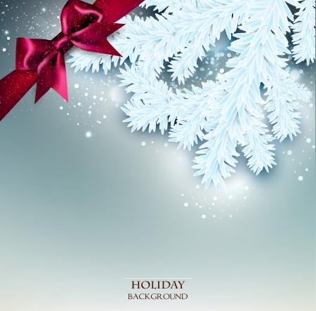 Elegant Kerst achtergrond met plaats voor tekst. Vector illustratie Stock Illustratie