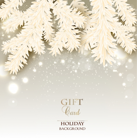 Elegant Christmas background with place for text . Vector illustration
