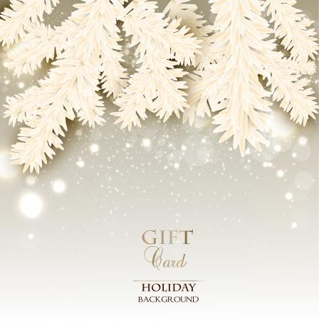 Elegante Weihnachten Hintergrund mit Platz für Text. Vektor-Illustration
