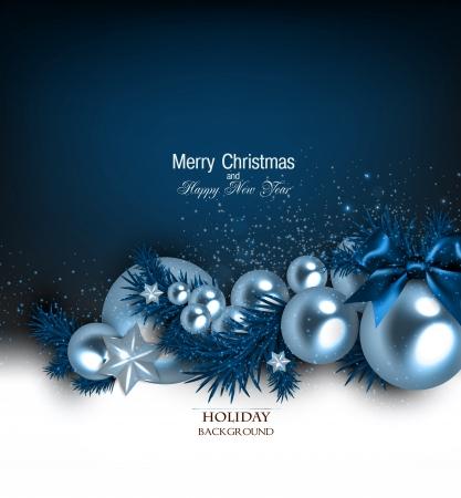 navidad elegante: Fondo elegante con guirnalda de Navidad. Ilustraci�n vectorial Vectores