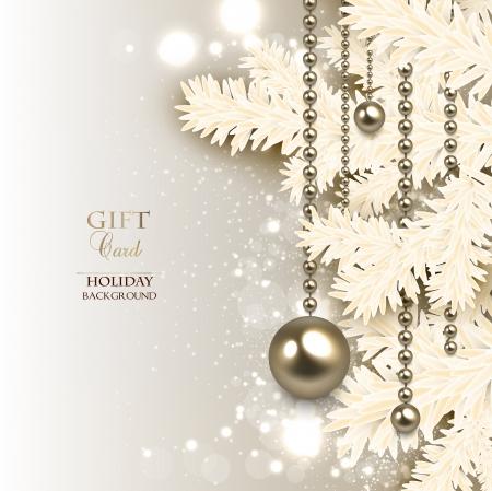 エレガントなクリスマス背景黄金のガーランド。ベクトル イラスト  イラスト・ベクター素材
