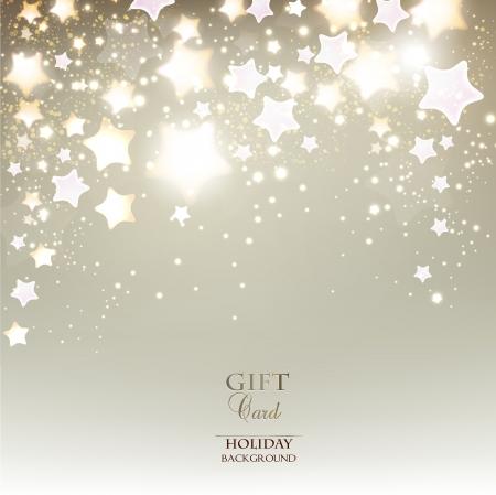 feestelijk: Elegant Kerst achtergrond met sterren. Vector illustratie