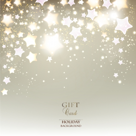 tarjeta postal: Elegante fondo de Navidad con las estrellas. Ilustración vectorial