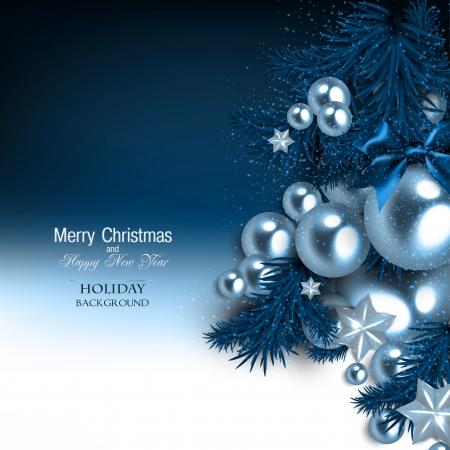 feliz: Fondo elegante con guirnalda de Navidad. Ilustración vectorial Vectores