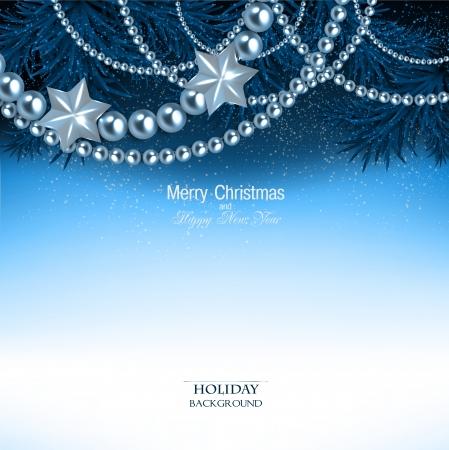 christmas garland: Elegant  background with Christmas garland. Vector illustration Illustration